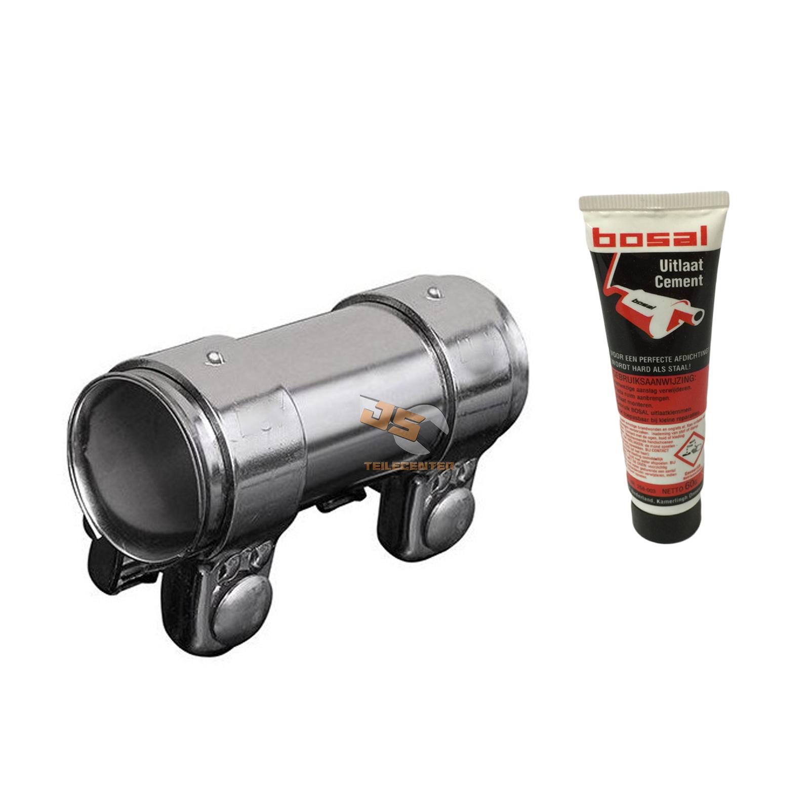 Connettore tubo scarico morsetto doppio universale 46 48 x for Tubo di scarico pex